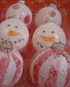 snowman and stripe homemade ornaments with #diy gifts #hand made #diy fashion