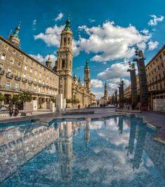 La Plaza Del Pilar o Plaza de Las Catedrales. Zaragoza.