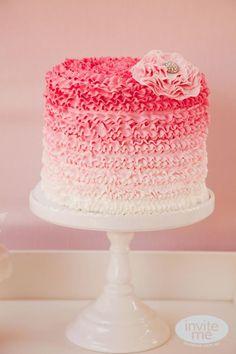 Ballerina Birthday party via Kara's Party Ideas! This cake is gorgeous! karaspartyideas.com #ballerina #party #ideas #cake   Ballerina Birthday Party