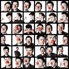 """""""David Tennant: The only man who can look hot even when wearing a clown nose."""" - He's just adorable. :) hehe."""