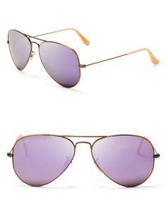 Ray-Ban Mirrored Aviator Sunglasses, 58mm | Bloomingdale's