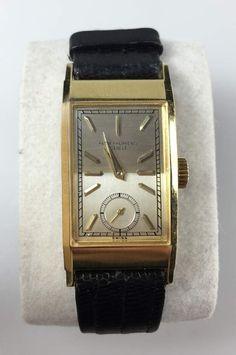 Philippe Patek, Armbanduhr Curvex, Handaufzug, hergestellt 1942, 750-Gelbgold, ref. 425,facettiertes — Uhren