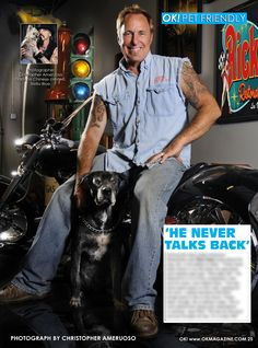 This week in my OK! Pets feature in OK! magazine we have the star of 'American Restoration' Rick Dale and his dog Six. Six was such a great dog to work with and it was a very exciting shoot to be in Vegas at Rick Dale's shop. Pick up a copy today and read about Rick and Six.