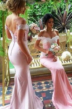 Classy Prom Dresses, Off Shoulder Sexy Bridesmaid Dress,Beautiful Custom bridesmaid dress, Wedding Party Dresses,Long Bridal Gowns Prom Dresses Long Pink Bridesmaid Dresses Long, Off Shoulder Bridesmaid Dress, Lace Bridesmaid Dresses, Wedding Party Dresses, Dress Party, Pink Bridesmaids, Shoulder Dress, Prom Party, Party Wedding