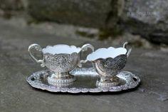 3 pc Petite Silverplate Cream & Sugar Set w by NorthMajestyTrail
