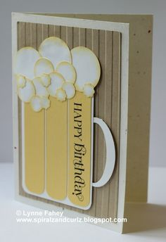 Stampin Up Demonstrator - Lynne Fahey (Spiralz and Curlz): Cheers! A Masculine birthday card....