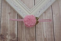 Soft Pink Headband/Felt Flower Headband/Baby Headband by Lillianas