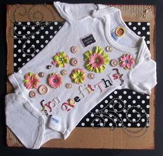Adding a newborn onesie to a scrapbook page. This is awesome!