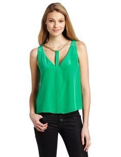 BCBGMAXAZRIA Women's Nydia V-Neck Top With Rope Trim