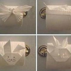toliet paper origami wouldn't people be surprised if you did this at their house. ha