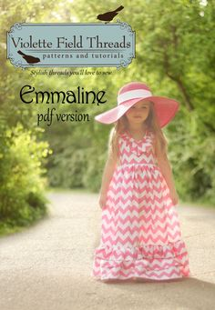 Emmaline Maxi Dress PDF Pattern Tutorial  by VioletteFieldThreads, $10.95