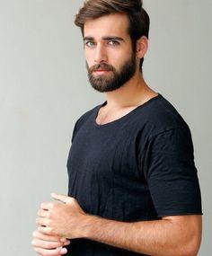 His hair, eyebrows, moustache and beard. Great Beards, Awesome Beards, Moustaches, Beautiful Eyes, Gorgeous Men, Pretty Men, Bear Men, Beard No Mustache, Beard Care