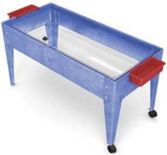The classically designed Toddler Sand and Water Activity Table by Childbrite is made of sturdy, moisture-resistant high impact resins. It is ideal for indoor/outdoor use without worry of cracking or g