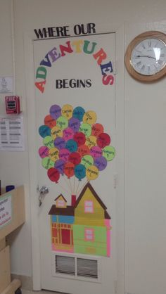 Cute welcome door decoration from the classic movie UP