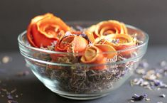 Make beautiful rose shapes from orange peels then place them in a bowl with other dried items for decoration. This project requires the participation of a parent or adult to peel the orange with a ...