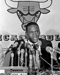 Michael Jordan on draft day