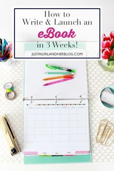 So much helpful information about how to write and launch an eBook! She lays it all out step by step. | JustAGirlAndHerBlog.com