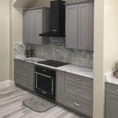 Buy Sterling Grey Shaker Cabinets   Online RTA Cabinets   CabinetSelect Rta Kitchen Cabinets, Kitchen Hoods, Shaker Cabinets, Vanity Cabinet, Cabinet Doors, Concealed Door Hinges, Sterling Grey, Mdf Doors, Plywood Boxes