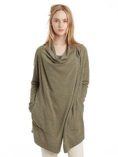 Cashmere Draped Cardigan | Women's Cardigans - INHABIT - Cashmere Draped Cardigan, $528