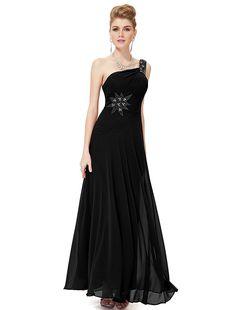 Ever Pretty Elegant One Shoulder Rhinestones Long Evening Dress 08079 *** Startling review available here  : black dress