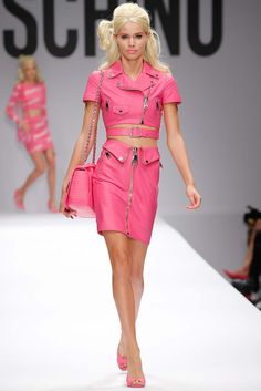 """Spring 2015 Trends / Nostalgia for the early 1970s dominated the runways this season, but the Spring fashion message went beyond """"make love, not war."""" Moschino"""