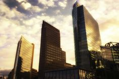 Skyline Berlin Potsdamer Platz with skyscrapers in the evening light by Frank Andree on 500px