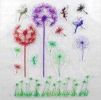 colorized 1PCS Dandelion Love Design Transparent Stamp DIY Scrapbooking/Card Making/Christmas Decoration Supplies