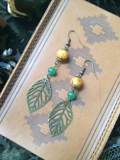 The Fallen Leaves Drop Earrings // The Daydream District