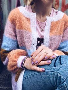 Sorbet Cardigan fra Mille Fryd - strikkekit med garn og opskrift hos Citystoffer Crochet Patron, Knit Crochet, Cardigan Pattern, Knit Cardigan, Raglan, Pullover, Knitting Projects, Knitting Patterns, Warm Outfits