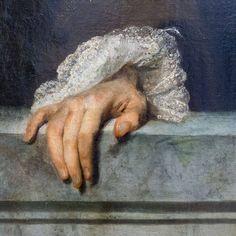 Jean-Antoine Watteau (1684-1721): Portrait d'un gentilhomme (détail) (1715-1720)
