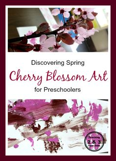 Teaching 2 and 3 Year Olds: Preschool Cherry Blossom Spring Art