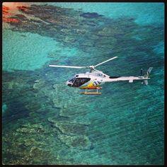 Our AS350BA on Sardinian Sea