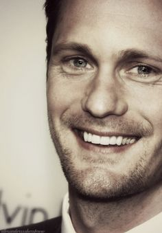 Alexander Skarsgard - hot to trot and I think he has my vote for Christian Grey