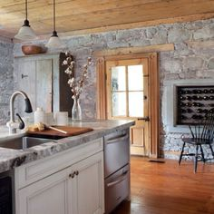 Stone walls work well in Hearth area.