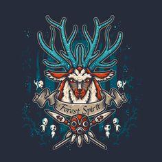 FOREST SPIRIT T-Shirt $12.99 Princess Mononoke tee at Pop Up Tee!