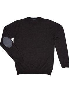 Brown Merino wool crew neck Pullover for men +39 Masq