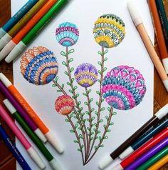15 ideas plants pattern line Doodle Art Drawing, Mandala Drawing, Ink Illustrations, Art Drawings Sketches, Mandala Doodle, Graph Paper Art, Beginner Art, Pattern Art, Art Patterns
