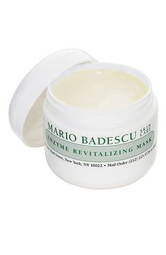Love this mask! Makes skin glowy and soft (and a little goes a long way. $20) - Mario Badescu Enzyme Revitalizing Mask
