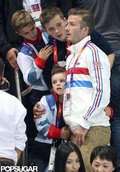 David Beckham and his boys