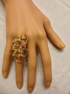 Circle Circle Ring in Gold and Silver by ShiriDaniella on Etsy, $28.00