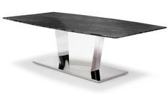 Black and White Marble Brushed Stainless Steel Sirah Coffee Table | Zuri Furniture