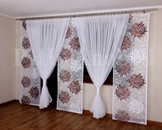 Gloria 6 Komplet na Balkon 3 panele +kokony kar Diy Curtains, Window Curtains, Rideaux Design, Partition Design, Cute Room Decor, Interior Decorating, Interior Design, Curtain Designs, Home Living Room
