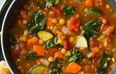 Italian Vegetable Lentil Soup – Healthy To Fit