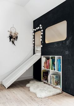 Buit in bed with practical storage in the kids room
