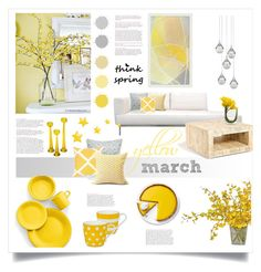 yellow march by levai-magdolna on Polyvore featuring interior, interiors, interior design, home, home decor, interior decorating, Global Views, ELAN, Fiesta and Könitz