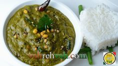 Pachadis or chutney gives a euphoric feeling to many mainly for their spicy and tangy flavour. Khatti Palak chutney is yet one more excellent chutney made wi. Veggie Recipes, Indian Food Recipes, Ethnic Recipes, Vegan Foods, Sweet And Spicy, Palak Paneer, Pickles, Mashed Potatoes, Main Dishes