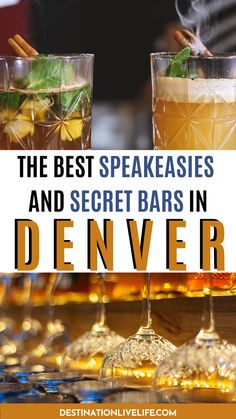 Do you love classic cocktails, inventive ingredients, and SECRET entrances? Then checking out one of Denver's best speakeasies is something you absolutely must do. Click here to learn more! Cruise Room Denver l Williams and Graham Denver l Green Russell Denver l Retrograde Denver l Denver Speakeasy l Speakeasy in Denver l Denver Colorado Speakeasy l Denver Speak Easy l Hidden Bars in Denver l Colorado Speakeasy l Best Bars in Denver l Best Bars Denver #Denver #Colorado #DestinationLiveLife