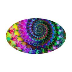 Psychedelic Rainbow Fractal Pattern Decal on CafePress.com