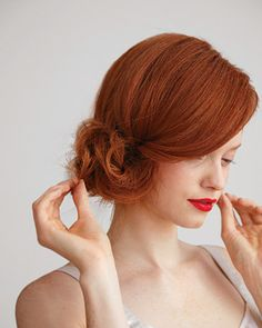 The side chignon... Timeless
