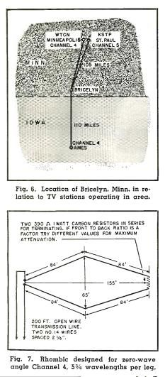 1950 rhombic TV antenna